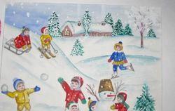 Зимові ігри для дітей фото