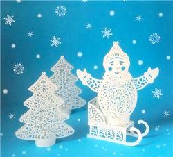 Зимові вироби з паперу