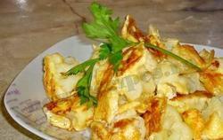 Цвітна капуста з яйцем. Смачні рецепти
