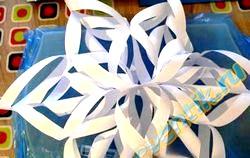 Як зробити сніжінку з паперу фото