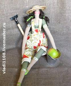 Лялька Тільда. Садівніця фото