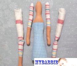 Ляльки Тільді. Ангелок з косичками. Майстер-клас