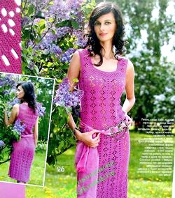 Літні в'язані сукні фото