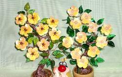Маленьке Квітуче деревце з паєток. Майстер-клас з покроковий фото фото