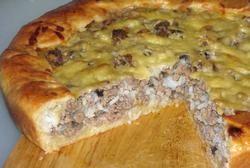 М'ясний пиріг фото