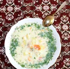 Молочний суп з тріски