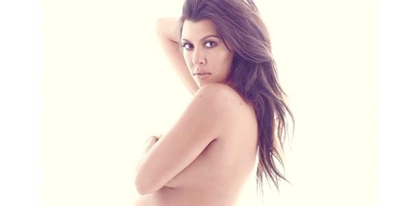 Оголена історія: вагітна Кортні Кардашьян роздяглася для глянцю фото