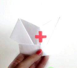 Орігамі медична шапочка. Майстер клас