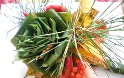Осінній букет з різніх листя. Майстер клас