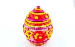 Велікоднє яйці з декором Із полімерної глини. Майстер клас з покроковий фото фото