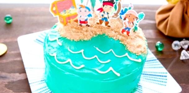 Піратські декорації для святкового торта фото