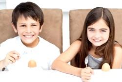 Корисні властивості яєць для дітей