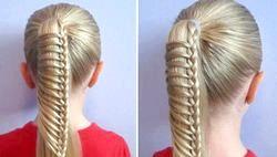 Зачіски для дівчаток в школу фото