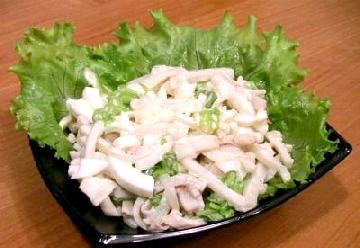 Салат з кальмарами