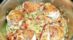 Рис з куркою і овочами. Рецепт з покроковим фото фото