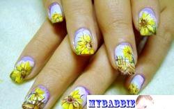 Розпис нігтів «Соняшники». Фото з покроковим описом