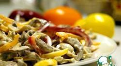 Салат. Болгарський перець і яловичина