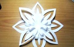 Сніжінкі з паперу - об'ємні фото