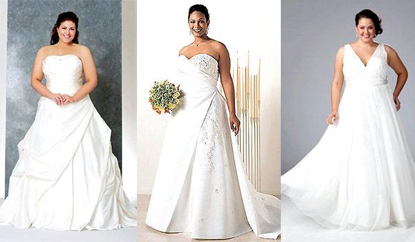 Весільне платі для повних наречених фото