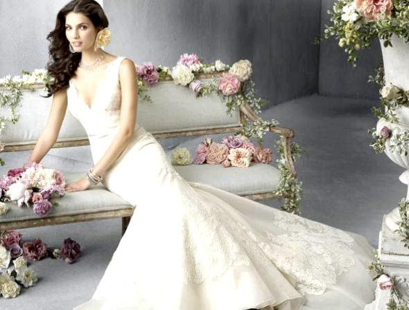 Весільна сукня рибка