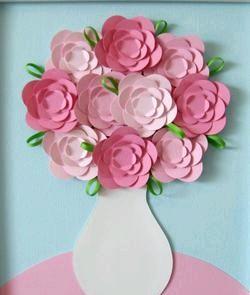 Падалка з дітьми. Квіти з паперу