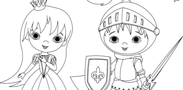 Розмальовки для принцес: 5 малюнків для дівчинки фото