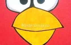 Розпис футболки акрилові Фарби. Angry Birds. Майстер клас з покроковий фото фото