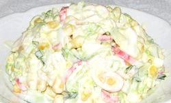 Салат крабовий з капустою