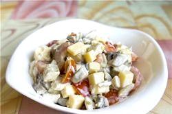 Салат з куркою і помідорами. Кращі рецепти