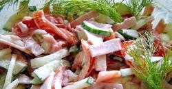 Салат з огірками і грибами. Популярні рецепти