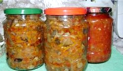Салати з грибами на зиму
