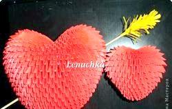 Серце-орігамі. Майстер клас фото