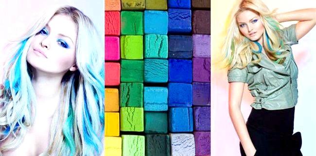 Суха пастель для волосся фото