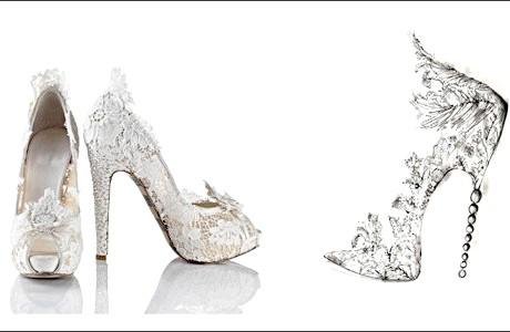 Весільні туфлі на високих підборах