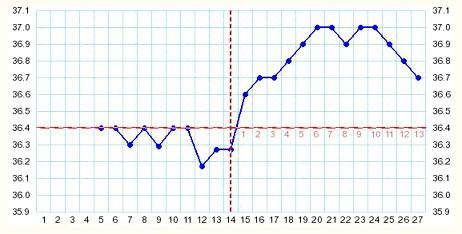 Типи графіків зміни базальної температури