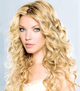 Укладання волосся хвилями фото