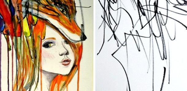 Художниця перетворює начерки 2-річної дочки в картини (фото)