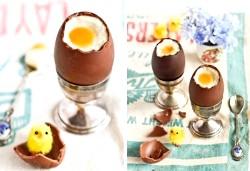 Шоколадні яйця з чизкейка