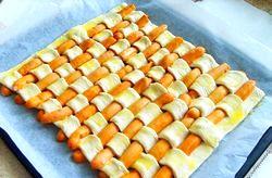 Сосиски в листковому тісті - дуже смачно і просто! фото