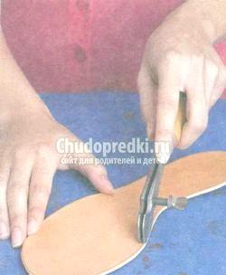 Зшивання шкіряних деталей