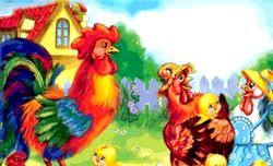Вірші англійською мовою для дітей про тварин. Курка і півень