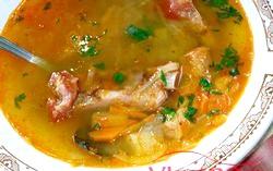 Суп на курячому бульйоні з турецьким горошком. Рецепт з покроковими фото