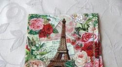 Техніка декупаж. Обкладинка для паспорта «Троянди Парижа». МК