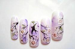 Японський манікюр. Розпис нігтів. «Сакура». Майстер клас з покроковий фото