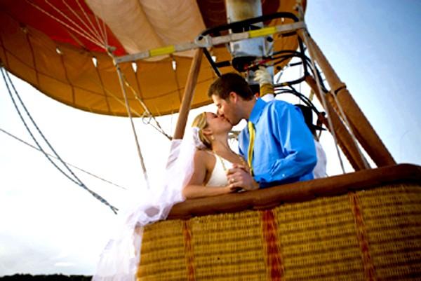 весілля на повітряній кулі
