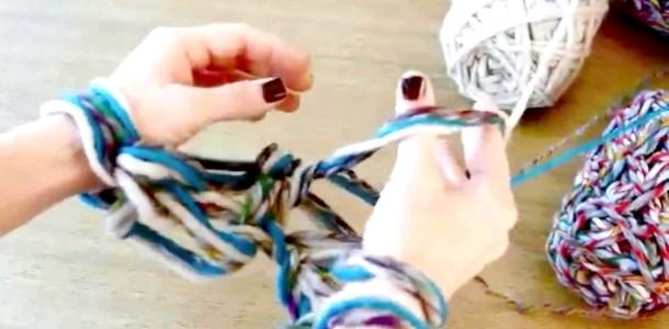 Школа DIY: в'яжемо шарф без допомоги спиць і гачка